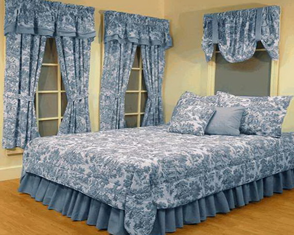 French Country Bedding Blue