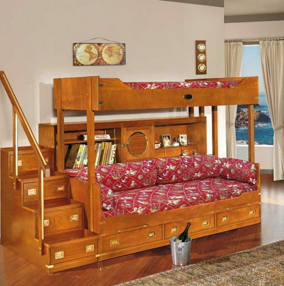 Full Bunk Beds With Stairs