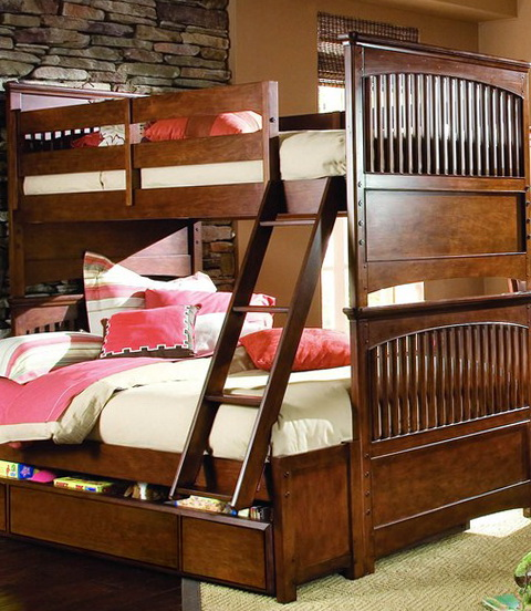 Full Loft Bed With Stairs