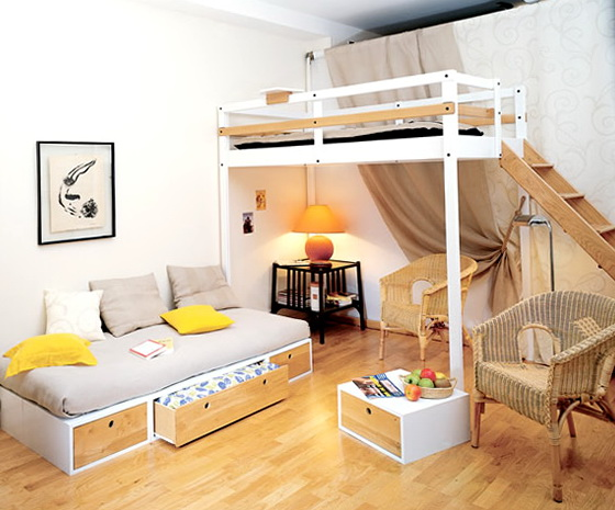 Full Loft Beds For Girls