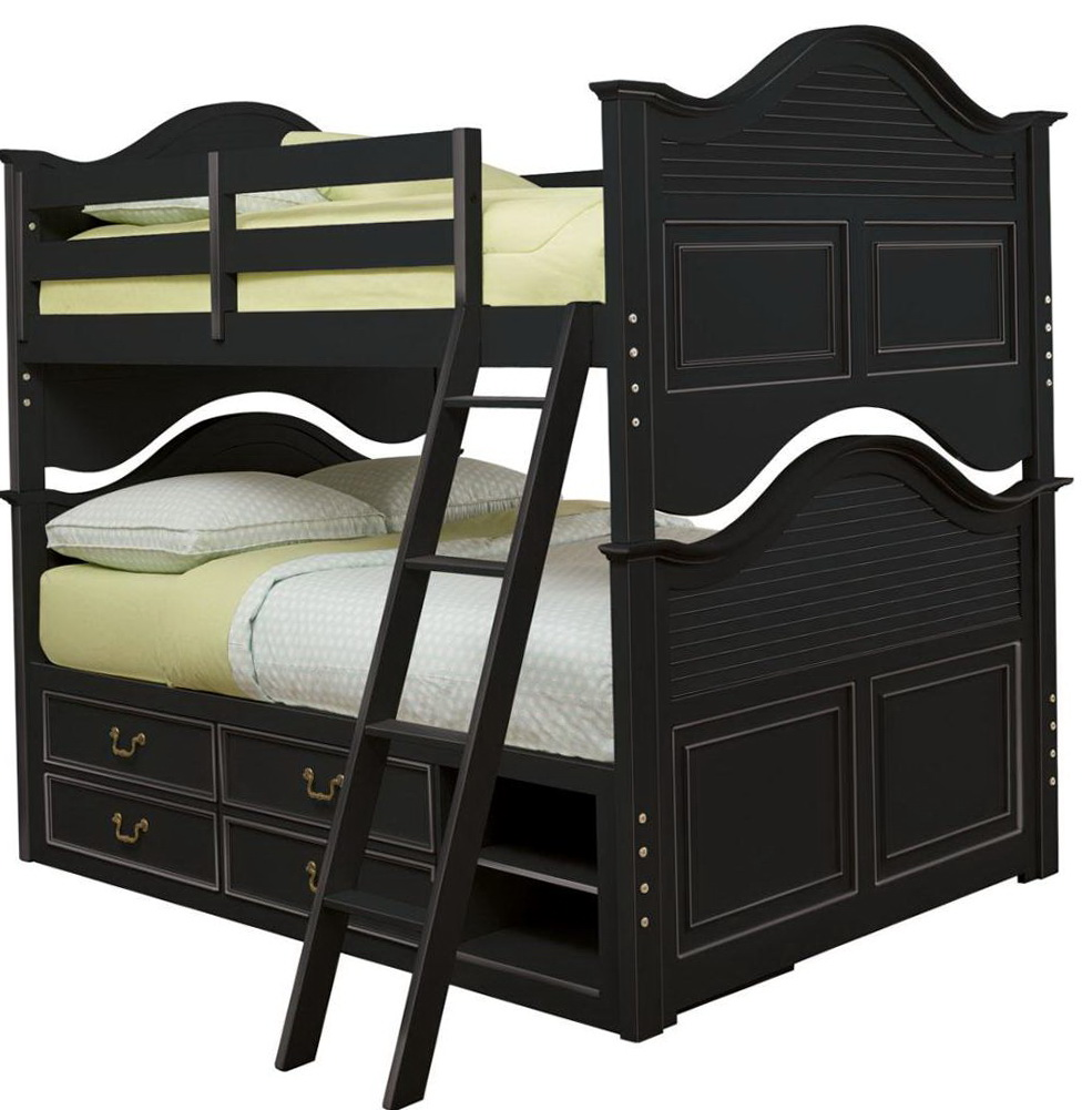 Full Over Full Bunk Beds With Storage