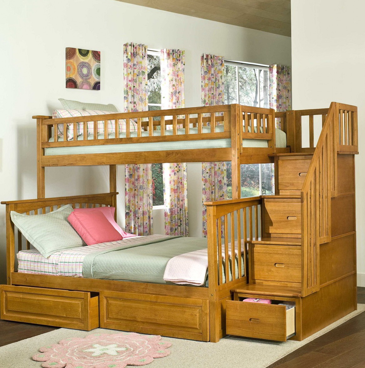 Full Over Full Size Bunk Beds