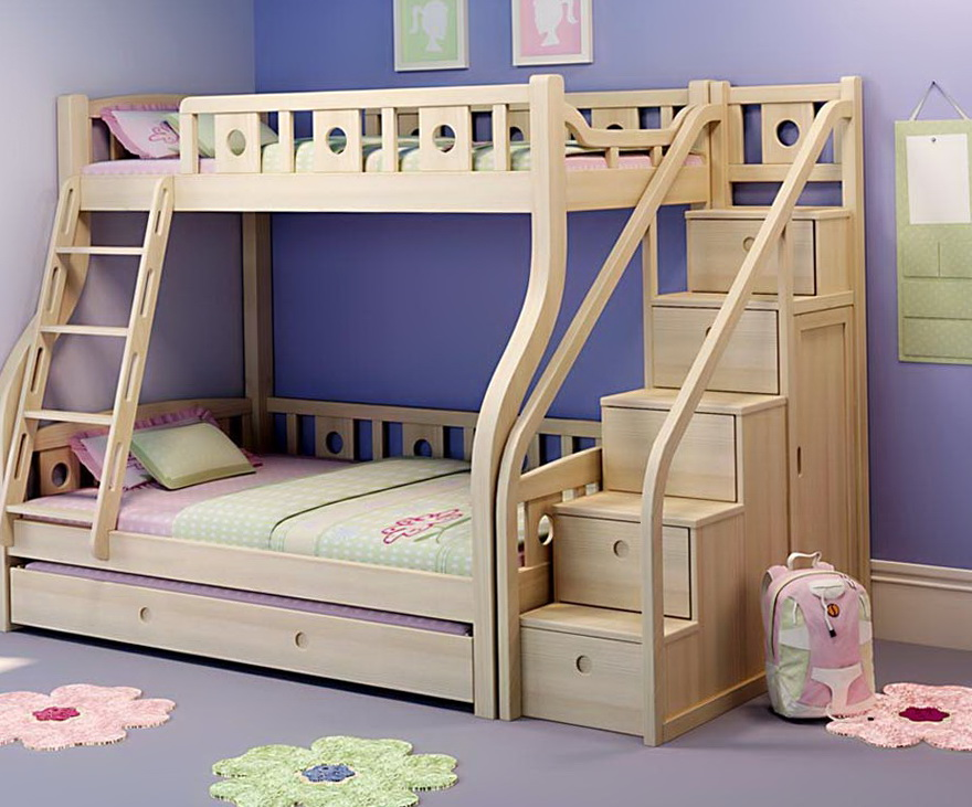 Futon Bunk Beds With Stairs