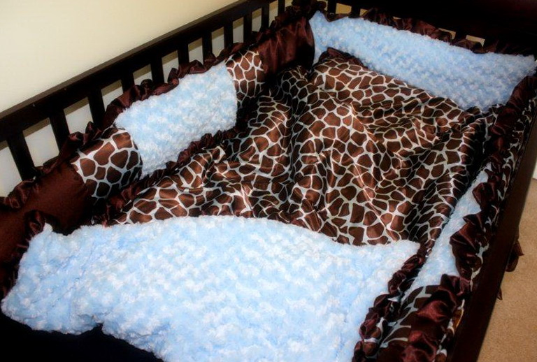 Giraffe Crib Bedding For Boys