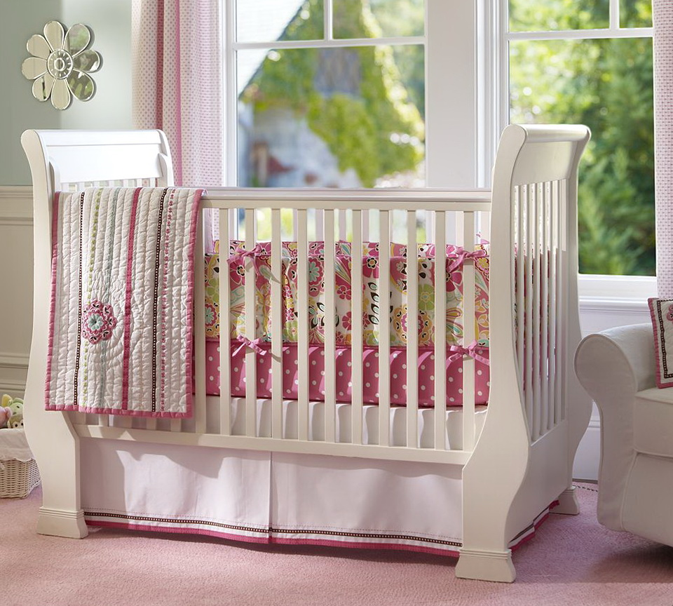 Girl Nursery Bedding Paisley