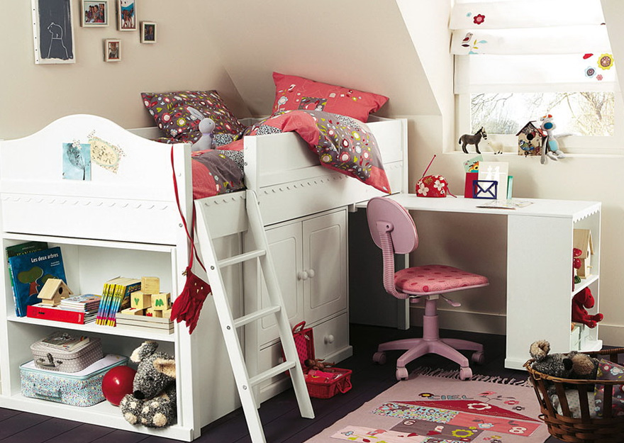 Girls Bunk Beds With Desk