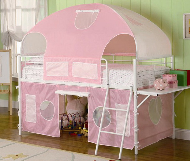 Girls Loft Bed With Stairs