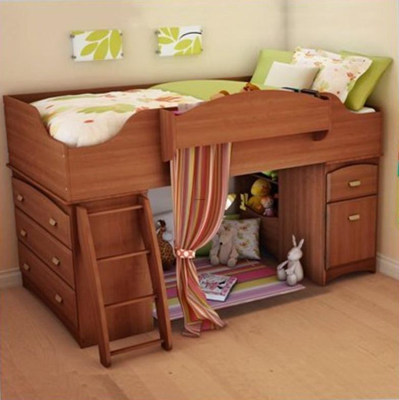 Girls Loft Bed With Storage