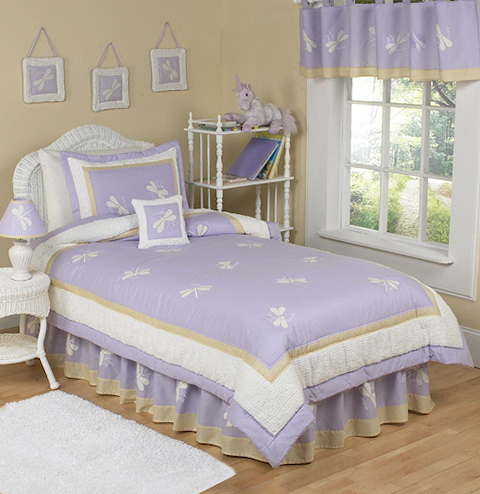 Girls Twin Bedding Purple
