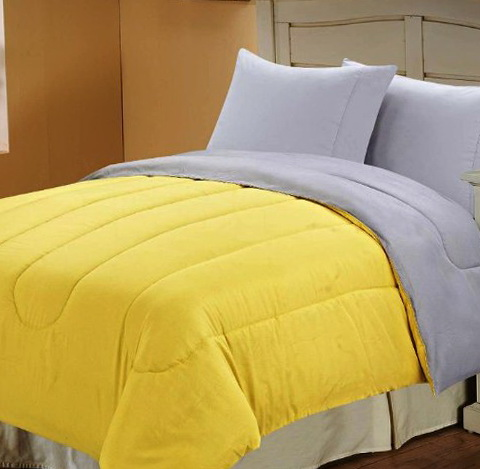 Gray And Yellow Bedding Queen