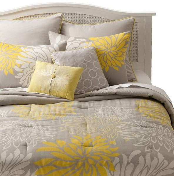 Gray And Yellow Bedding Walmart