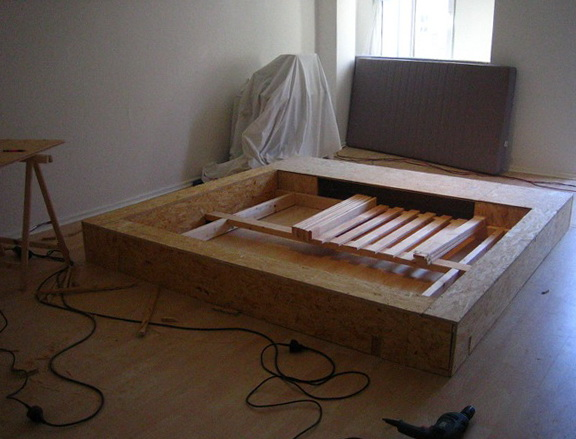 Homemade King Size Platform Bed Frame