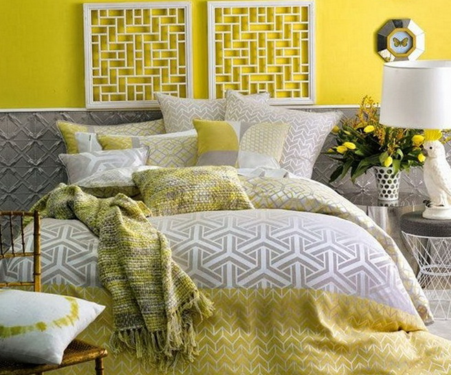 Jcpenney Yellow And Gray Bedding