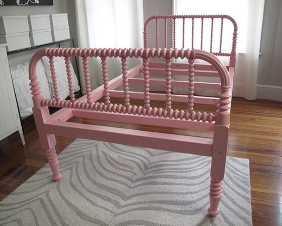 Jenny Lind Bed Painted