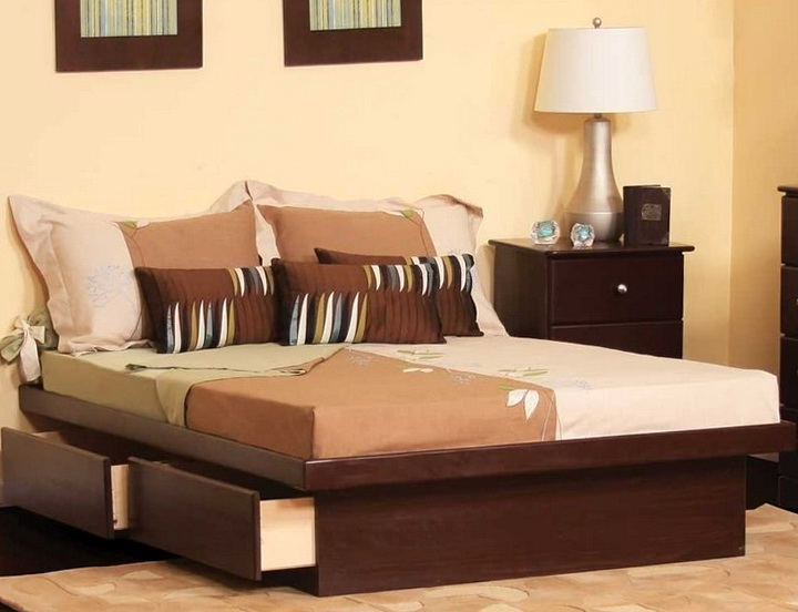 King Platform Bed Drawers