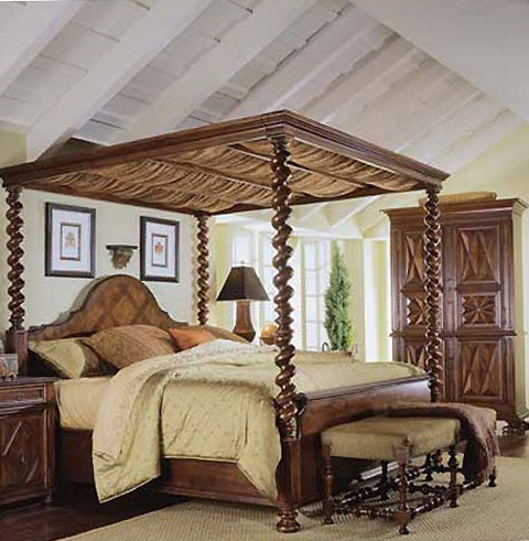 King Size Canopy Bed Frame