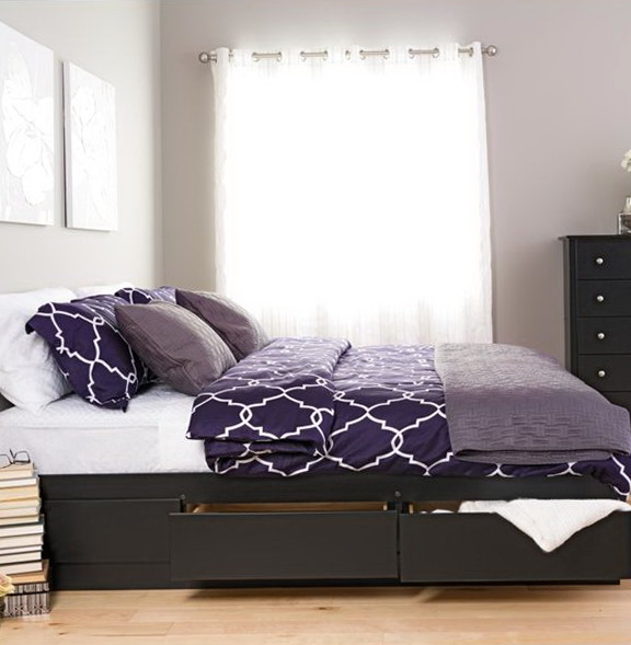 King Size Platform Bed With Drawers