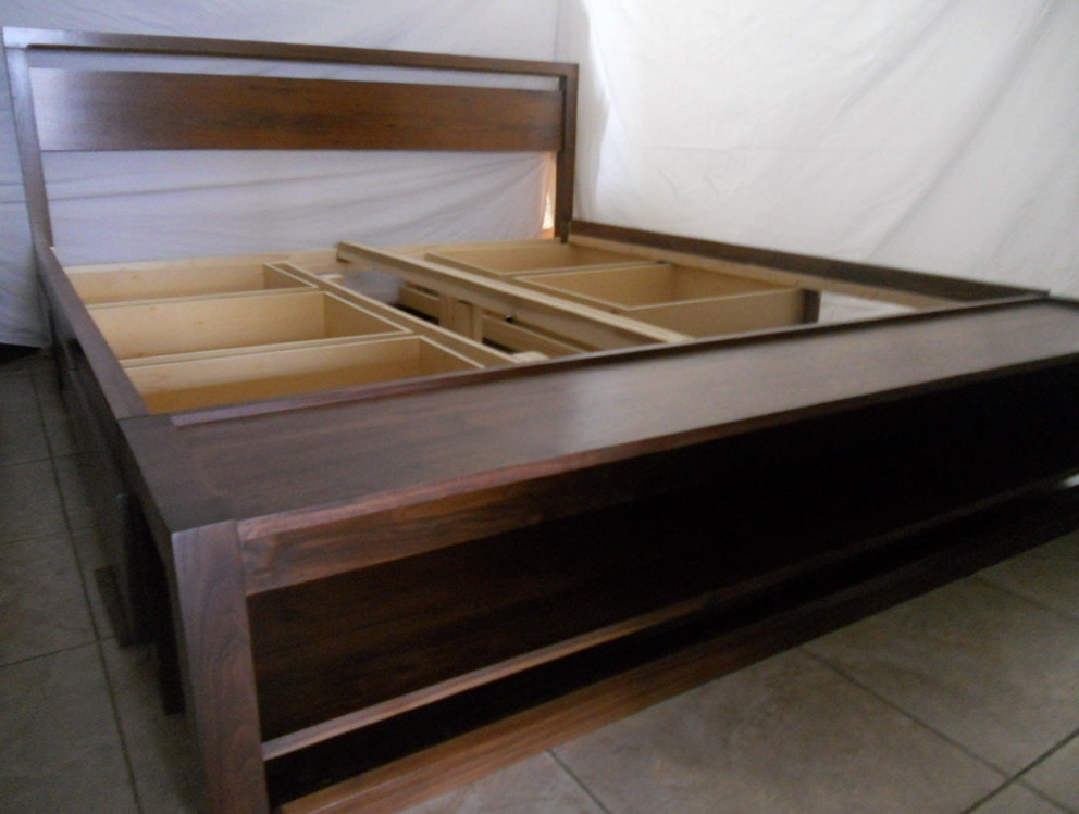 L King Size Bed Frame With Storage