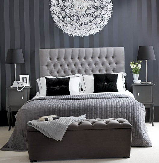 Light Grey And White Bedding