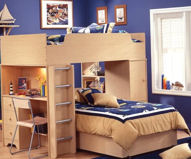 Loft Beds For Kids With Desk Underneath
