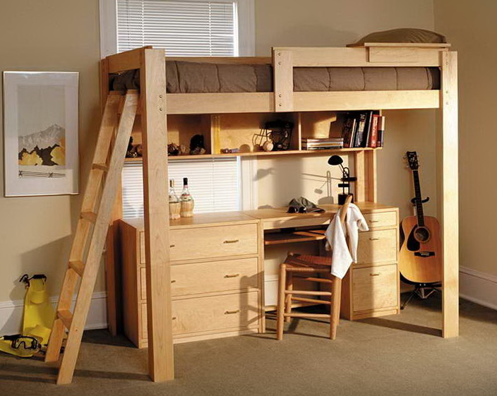 Loft Beds With Desk For Adults