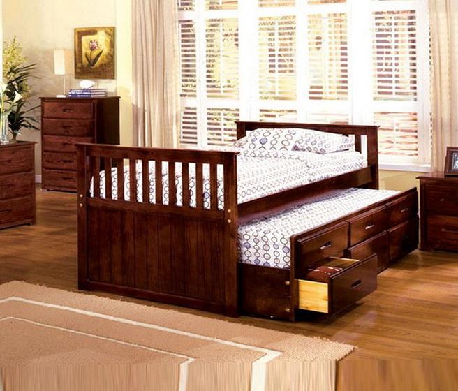 Mainstays Twin Storage Bed Cinnamon Cherry