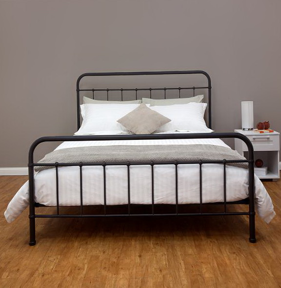Metal Bed Frame Queen Headboard