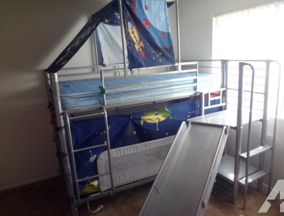 Metal Bunk Beds With Slide