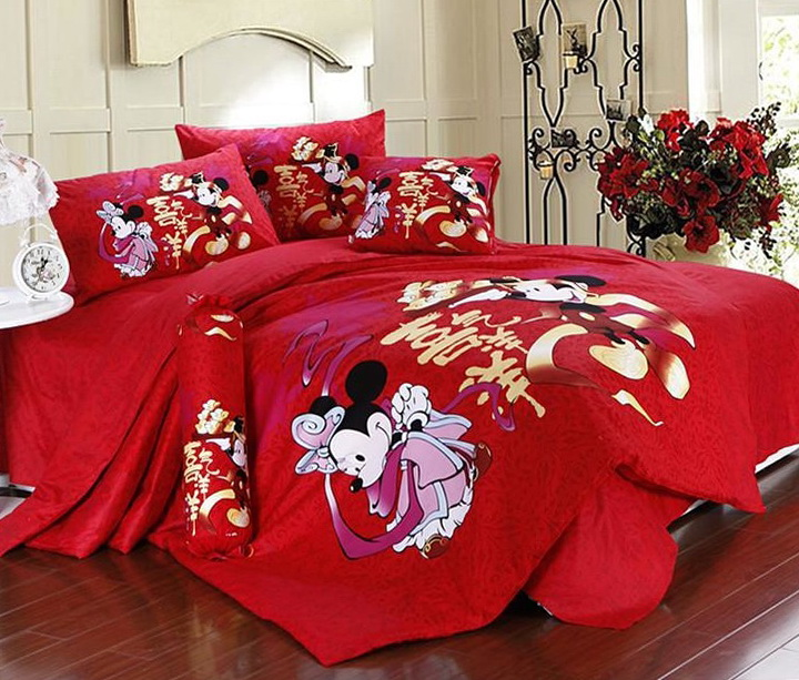 Minnie Mouse Bedding Red