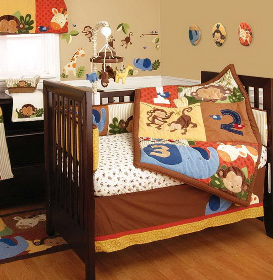 Monkey Crib Bedding For Boys