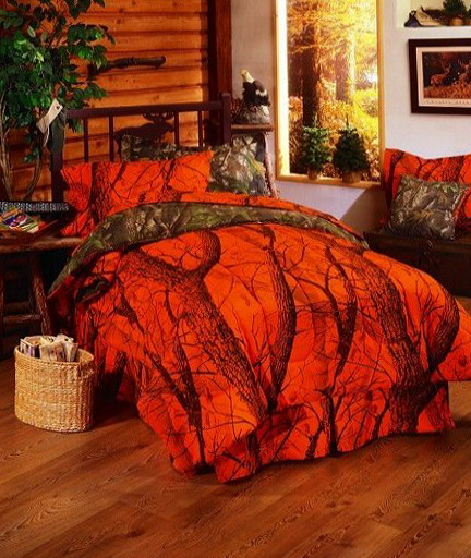 Orange Camo Bed Sets