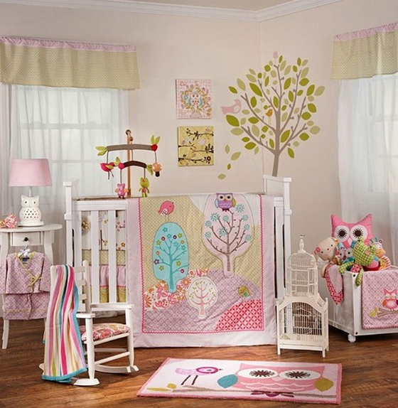 Owl Crib Bedding Sets For Girls