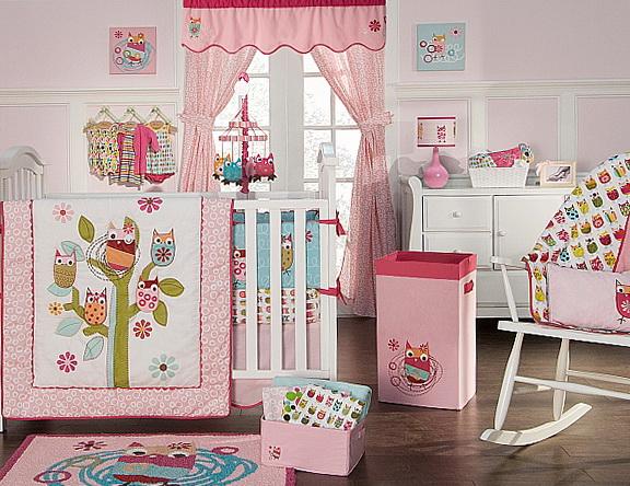 Owl Toddler Bedding For Girls