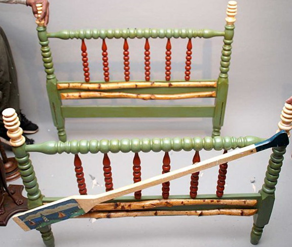 Painted Jenny Lind Twin Bed