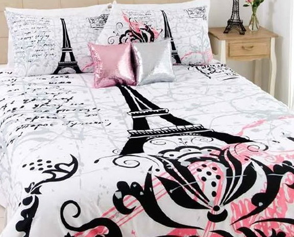 Paris Themed Bedding Twin Size