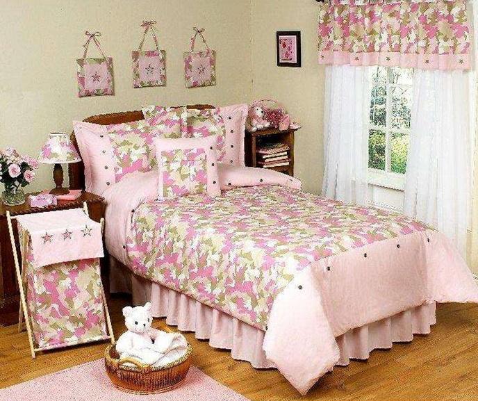 Pink Camo Bed Sets