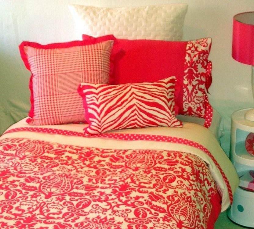 Pink Dorm Room Bedding