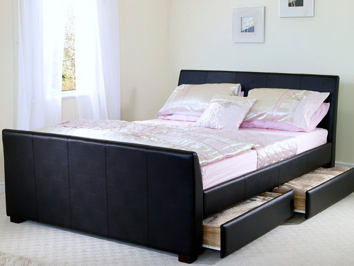 Platform Bed Frames With Drawers