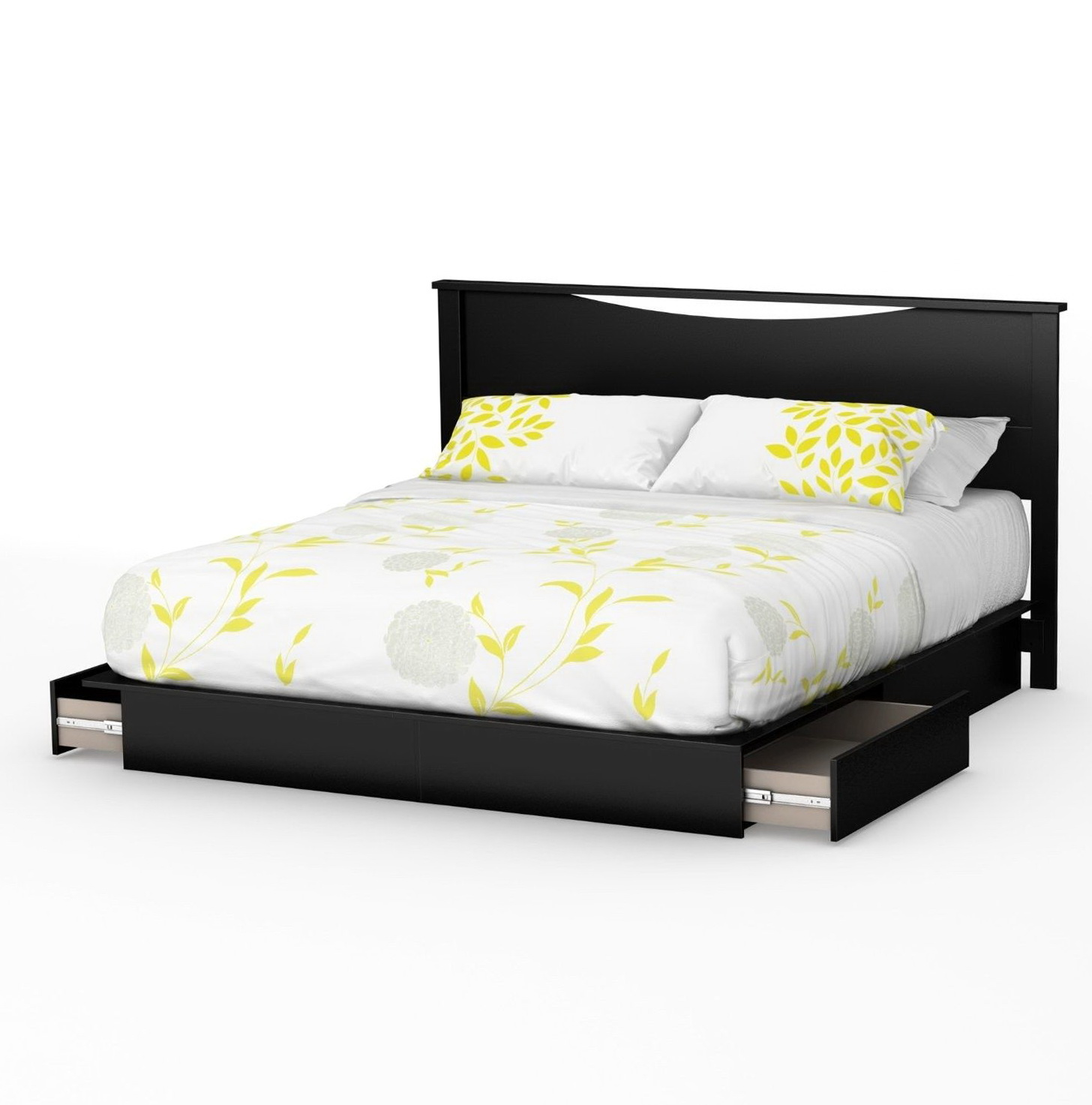 Platform Bed With Storage Drawers