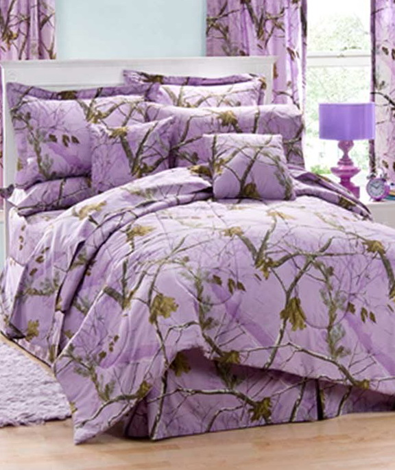 Purple Camo Bed Sets