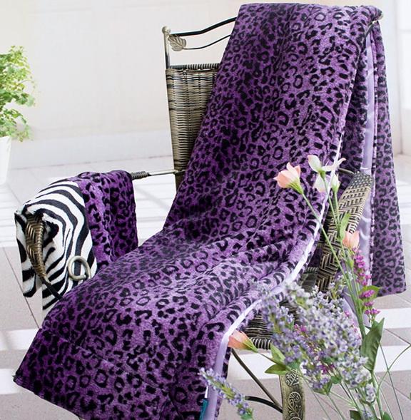 Purple Cheetah Print Bedding