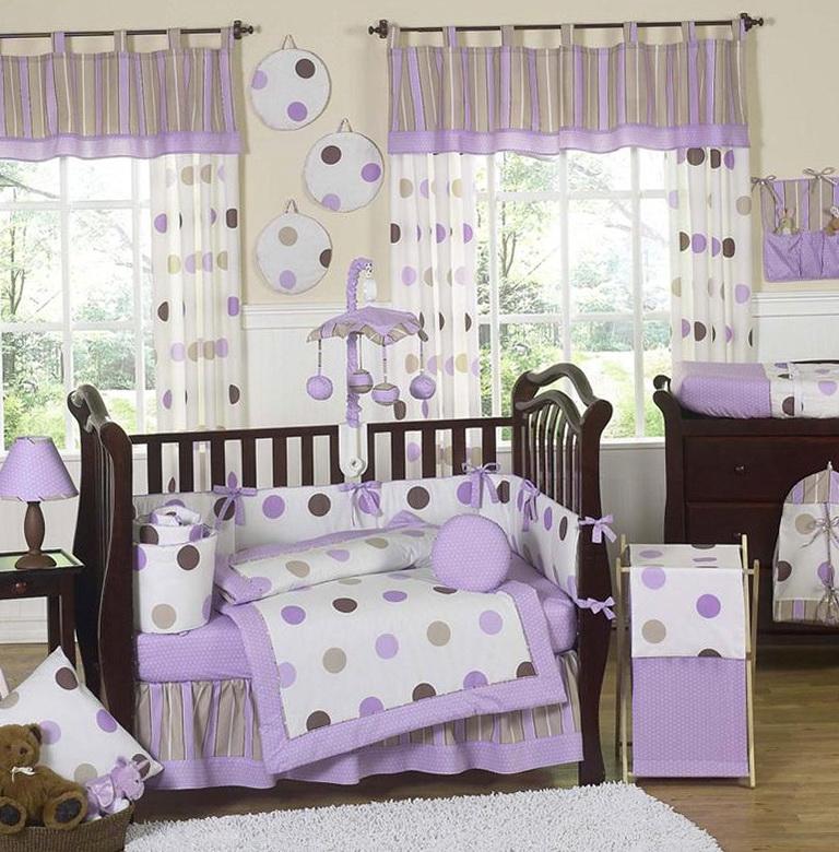 Purple Girl Crib Bedding Sets