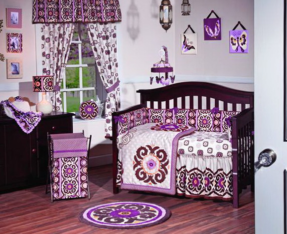 Purple Girl Crib Bedding