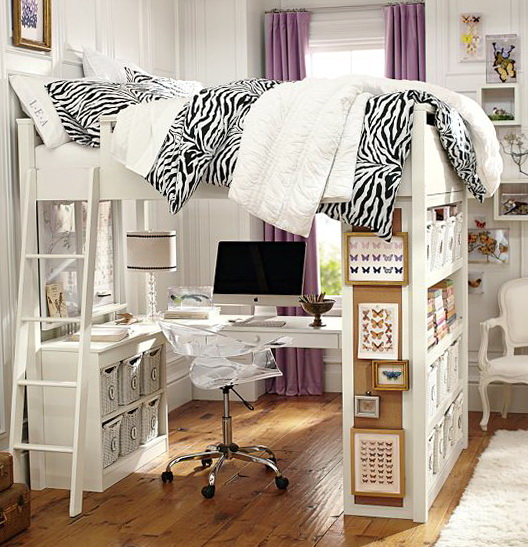 Queen Loft Bed With Desk Underneath