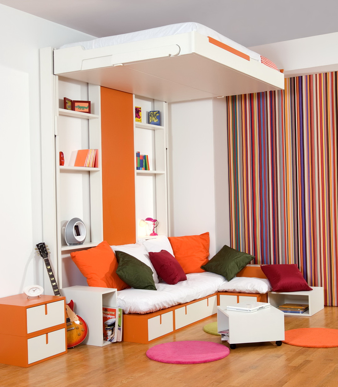 Queen Loft Bed With Storage