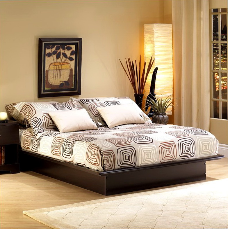 Queen Platform Bed Frame With Drawers