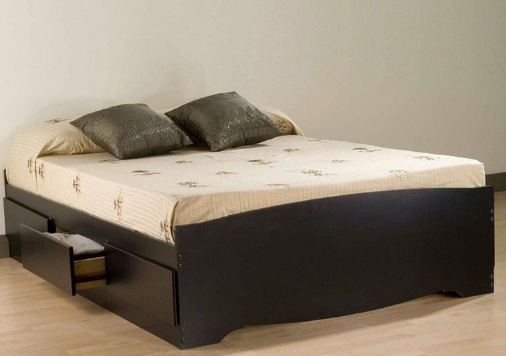 Queen Platform Bed Storage