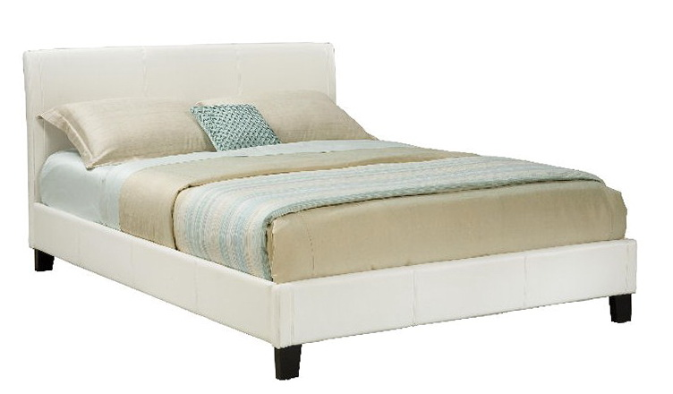 Queen Platform Bed White