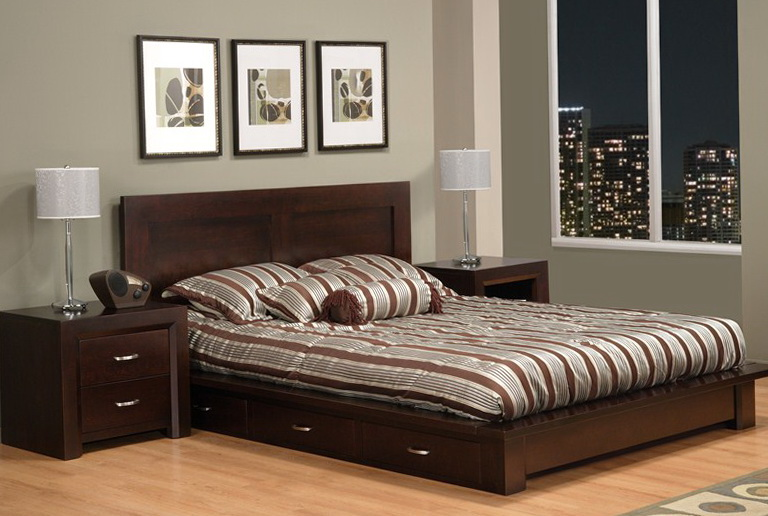 Queen Platform Bed With Drawers