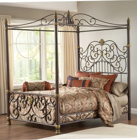 Queen Size Canopy Bed Frame